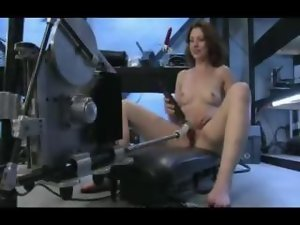 Amateur chick masturbates with power toys