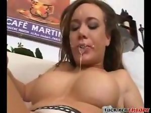 She Loves Gagging and Cum!