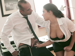 Attractive Secretary banged wild by his boss