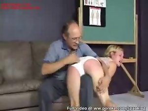 Cutie gets red butt for bad behavior film