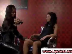 Clothed european lesbos lick snatch while filming her