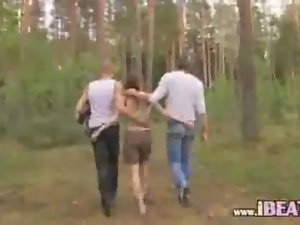 Horny group garden banging barely legal teen