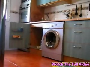 Lonely cheating wife flashes plumber