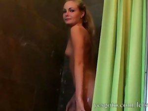 Amazingly gorgeous light-haired amateur Daisy has a fantastic first time anus tryout