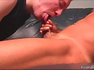Andy gets his extremely first fatty gay phallus video 2