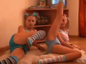 Luscious teens Workout And Strip