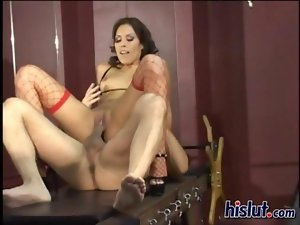 Jennifer gets screwed after getting chained
