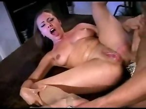 Filthy blondie squirting amateur