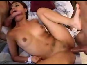 Juicy girlie loves fuck in crazy threesome action segment
