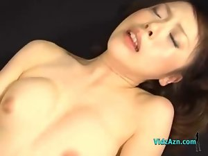 Asian Chick Screwed By 2 Lads Facial And Creampie On The Bed