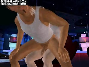 Sensual 3d cartoon hunk strokes prick and gets screwed clip