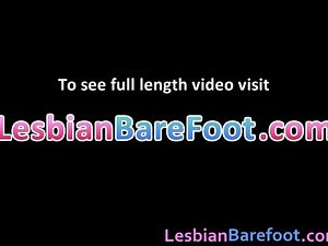 Chesty Lesbos Toes and Fake penis banging