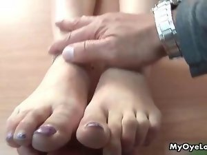 Luscious dark haired young woman goes wild doing oral movie