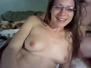 look at my nympho sex partner while swallow my cum on webcam