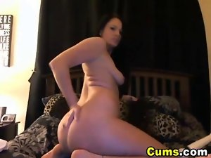 Sensual Sensual Slutty girl Strokes then Rides her Toy HD