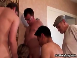 Pecker stuffing aged orgy
