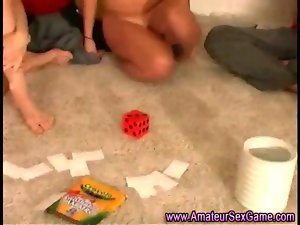Lewd amateur randy chicks in sex party dare games
