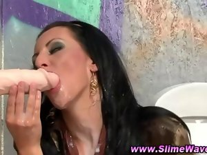 Glam gloryhole vixen licks