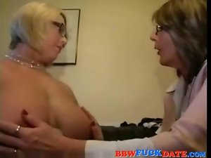 Two Obese Lez Grandmothers Playing