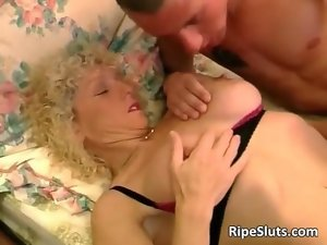 Big titted aged tempting blonde gets dripping vagina
