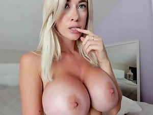 Pretty Blondie Doll With Big Melons