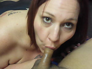 dick sucking after jizm with escort