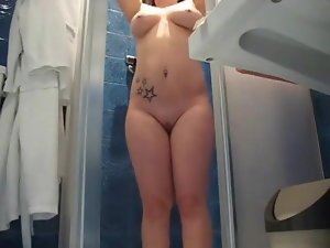 Chesty Doll Filming Her Bathroom