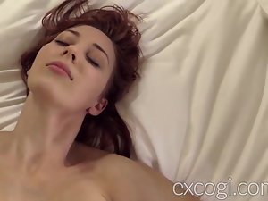 Big Tit Redhead Lactating Young Mom Orgasms in Porn Debut