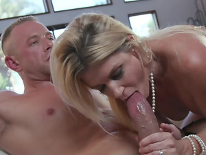 Husband has a big piece of cock for his extremely randy wife