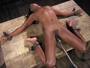 Ebony girl loves BDSM pussy-penetration more than man can imagine