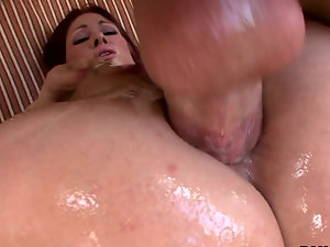Milf redhead is doing some serious anal and dick sucking as well